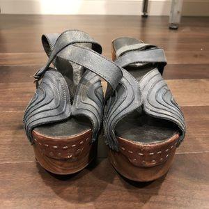 Free People rustic boho clog heels